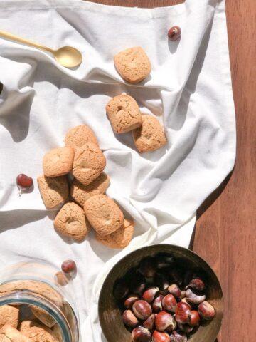 Chestnut flour gluten free cookies