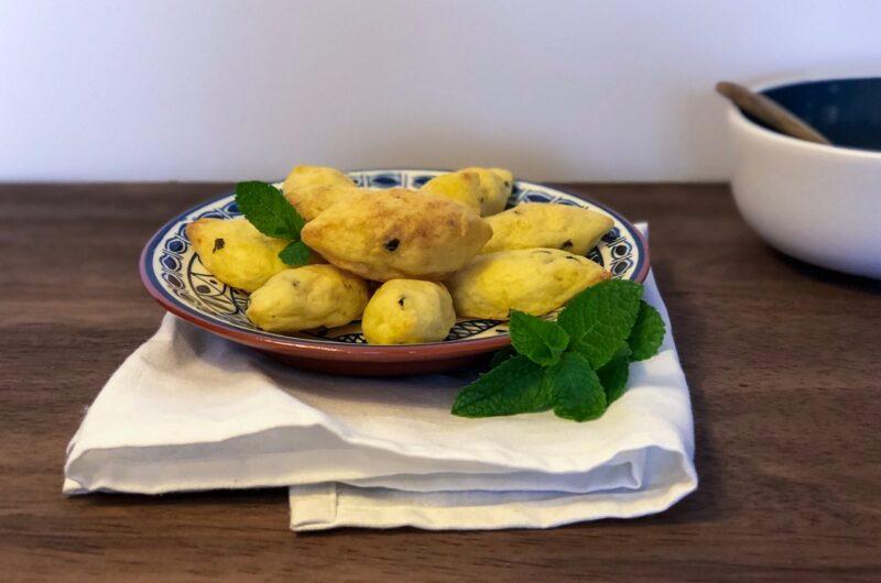 Baked mint potatoes bites