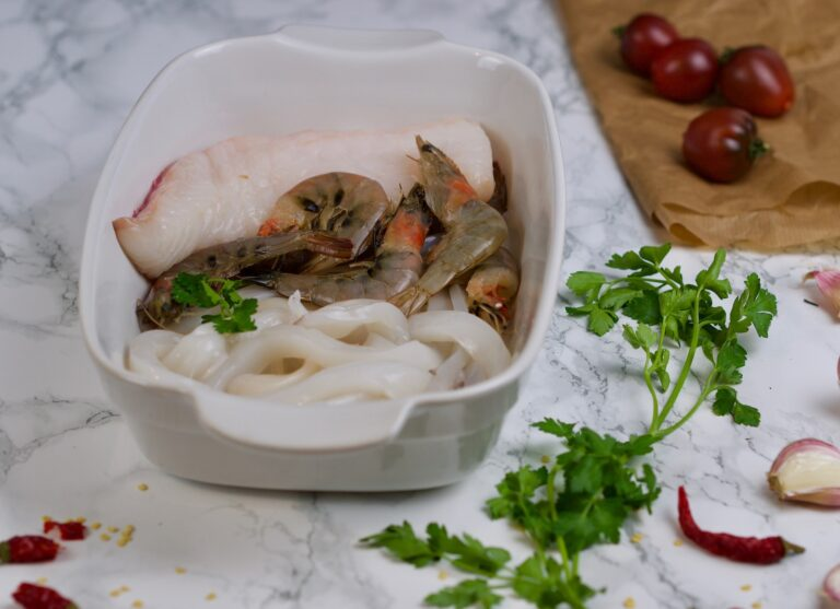 Fish, squids and shrimps for soup