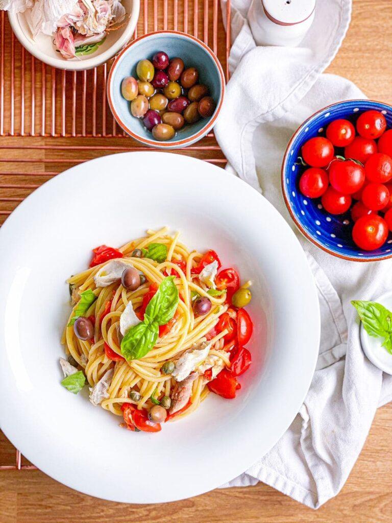 Gluten free summer meals: quick and easy mackerel spaghetti