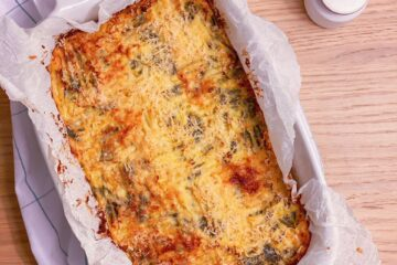 Potatoes and green beans loaf