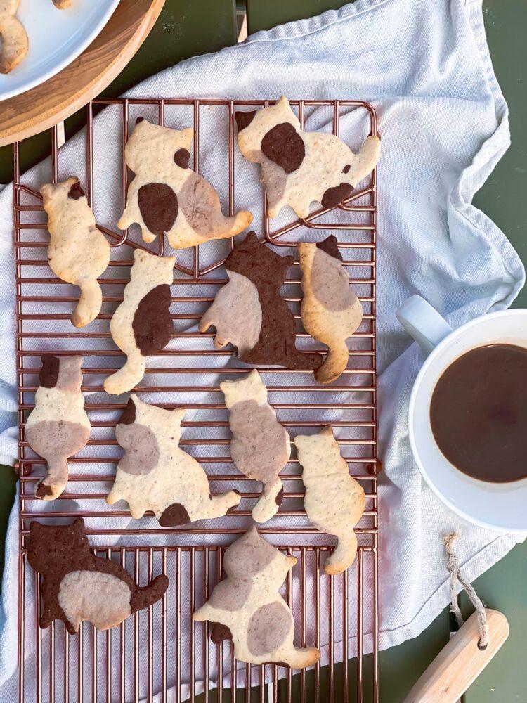 Cat butter cookies
