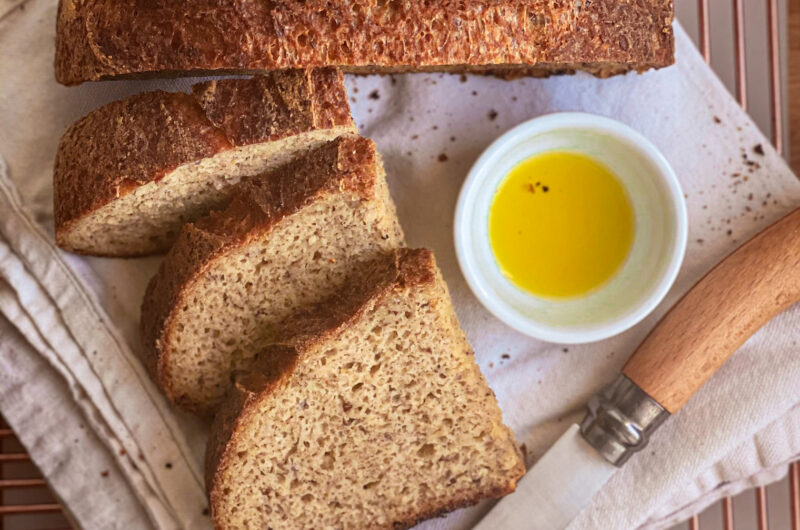Naturally gluten-free artisan bread loaf