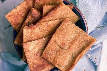 Gluten free discard crackers