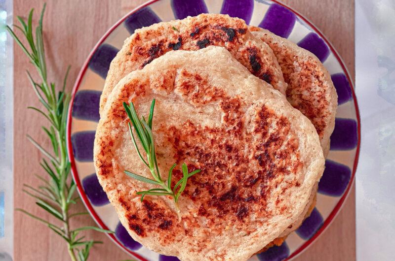 "Sourdough discard gluten free ""naan"" bread"