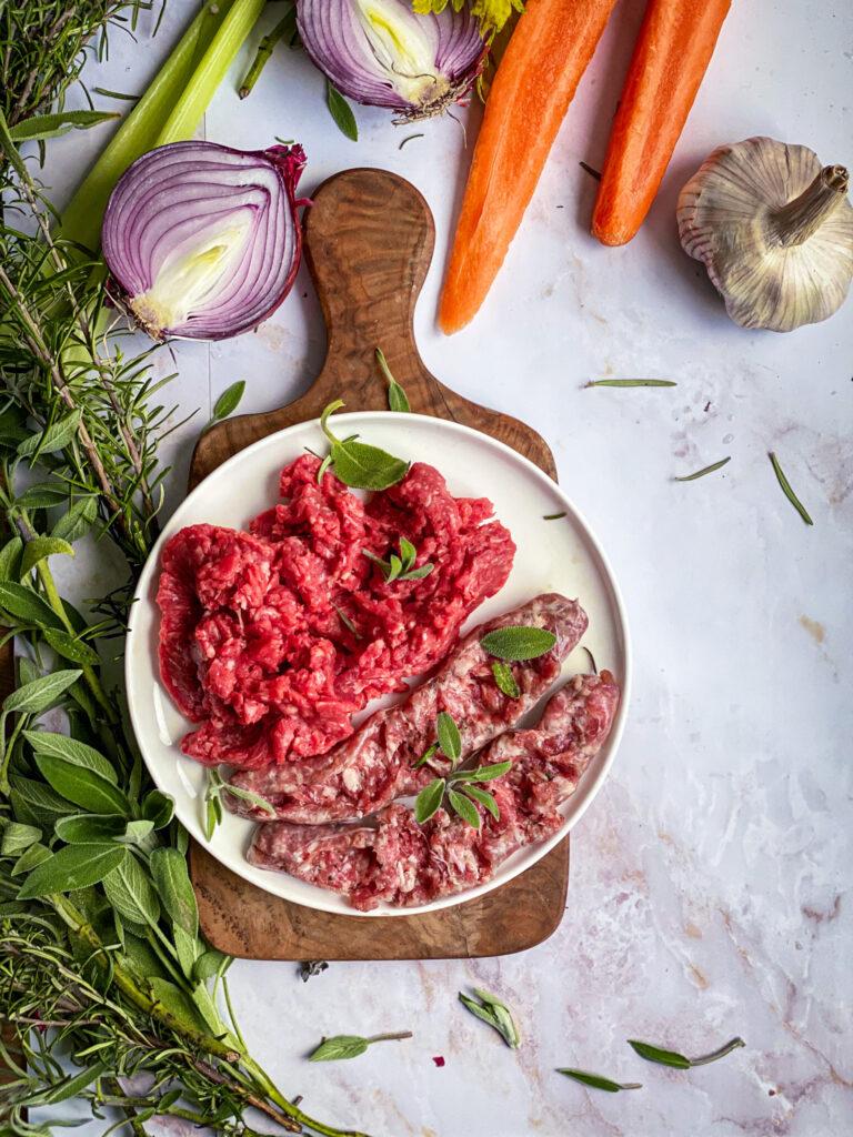 Beef mince tomato sauce