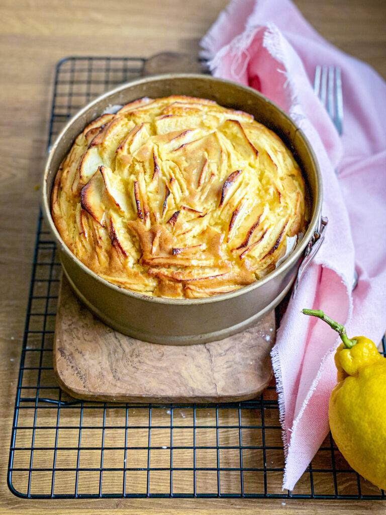 Gluten free apple sponge cake