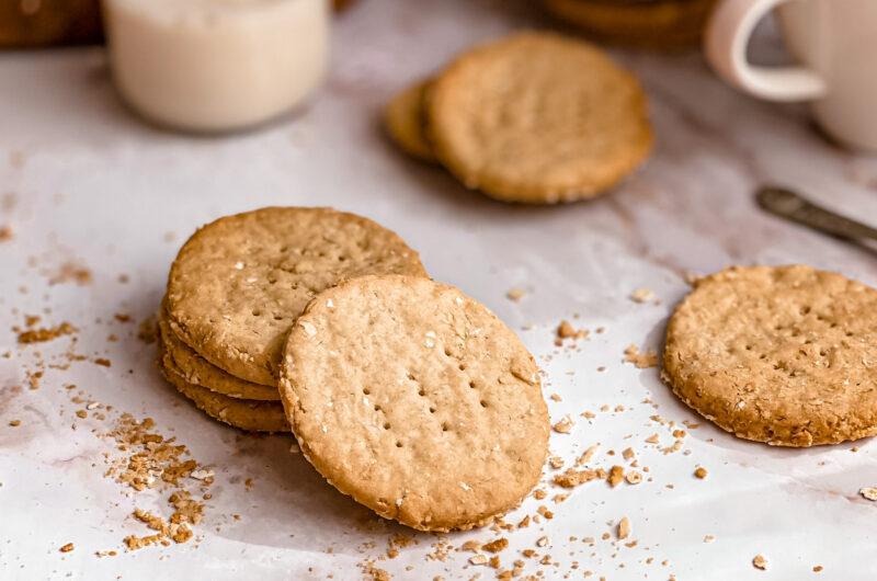 Gluten free digestive biscuits (vegan)
