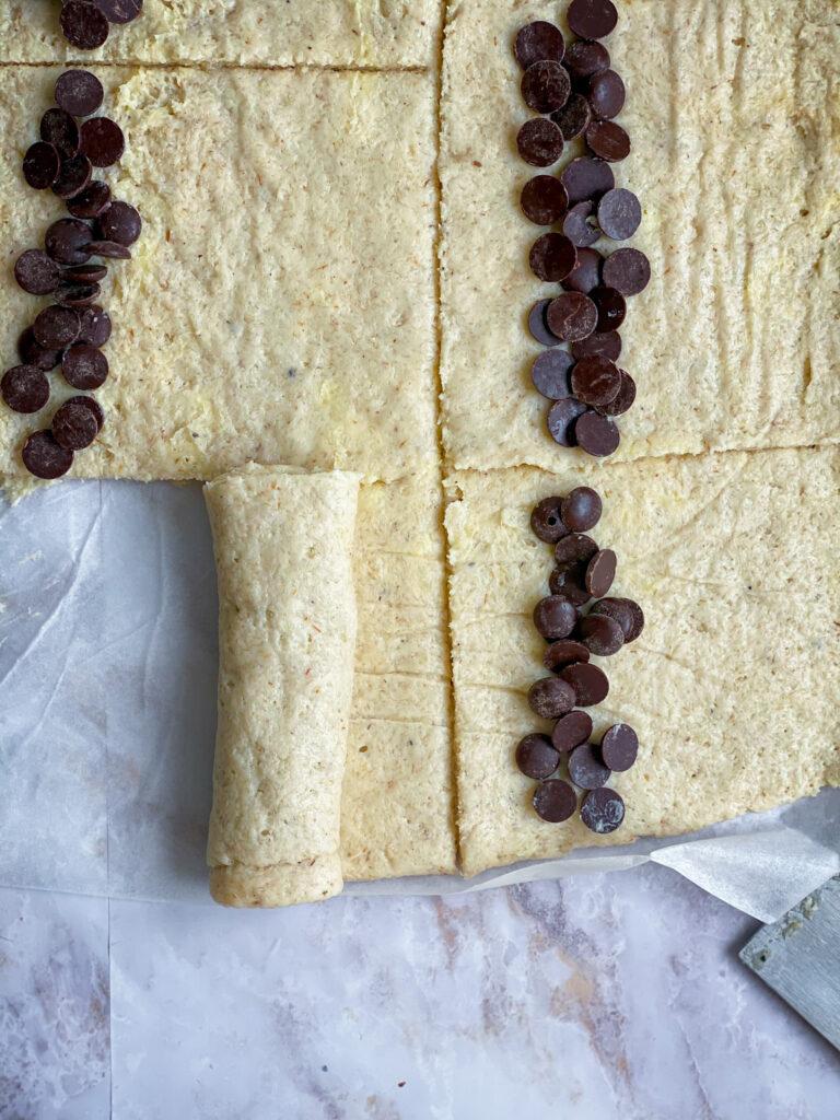 Gluten free chocolate brioche buns process
