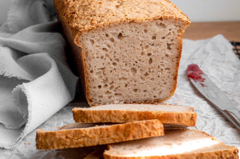 Gluten free sourdough sandwich bread
