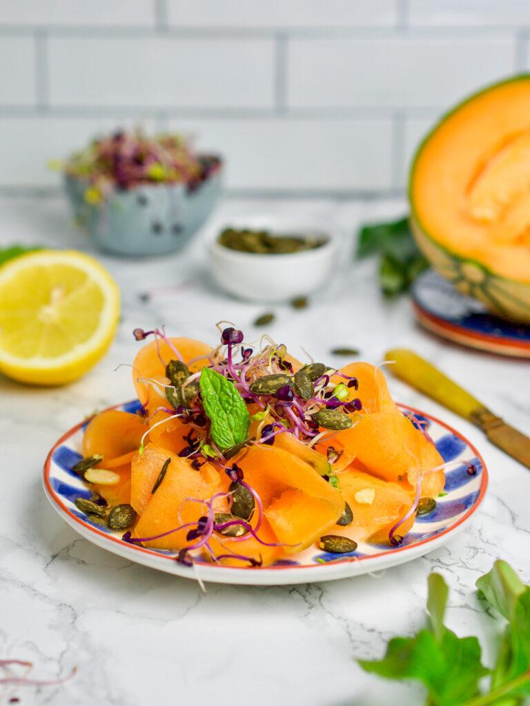 Easy summer meals: Raw melon savory carpaccio