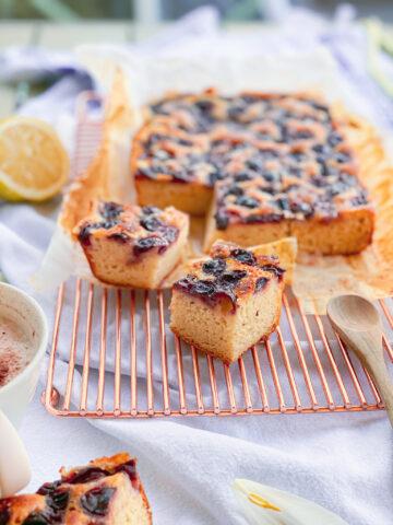 Gluten-free grapes focaccia bread