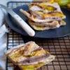 Zucchini blossoms gluten free flatbread